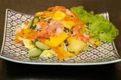 Mango Salat mit Garnelen
